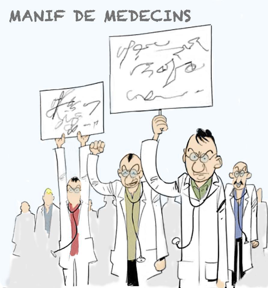 manif de médecins